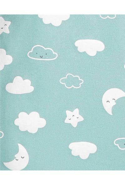Carter's Bulut Desenli 5'li Kısa Kollu Bebek Body
