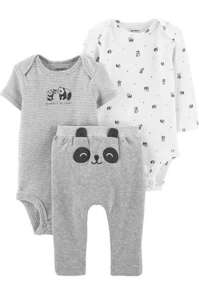 Carter's Panda Desenli 3'lü Bebek Takımı