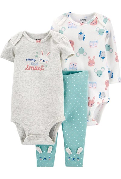 Carter's Tavşan Desenli 3'lü Bebek Takımı
