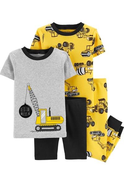 Carter's İnşaat Kamyonu Desenli 4'lü Pijama Takımı