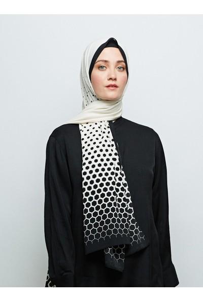 Moda Kaşmir Petek Desenli Medine İpeği Şal