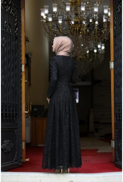 Erbilden Erb Ahunisa Henna Abiye Siyah 5646