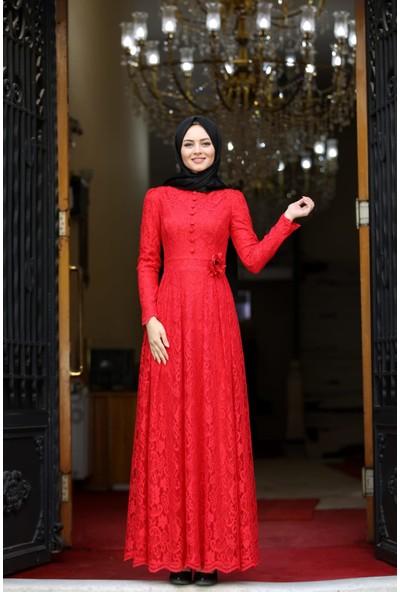 Erbilden Erb Ahunisa Henna Abiye Kırmızı 5646