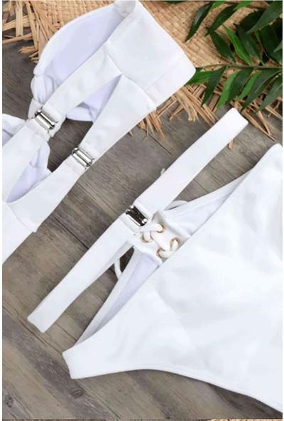 Angelsin Özel Tasarım Bikini Takım Beyaz