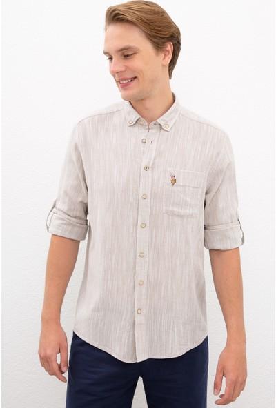 U.S. Polo Assn. Beyaz Gömlek Uzunkol 50218436-VR011