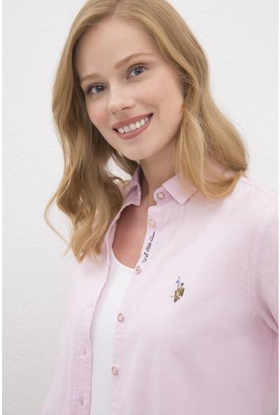 U.S. Polo Assn. Pembe Gömlek Uzunkol Basic 50219042-VR034
