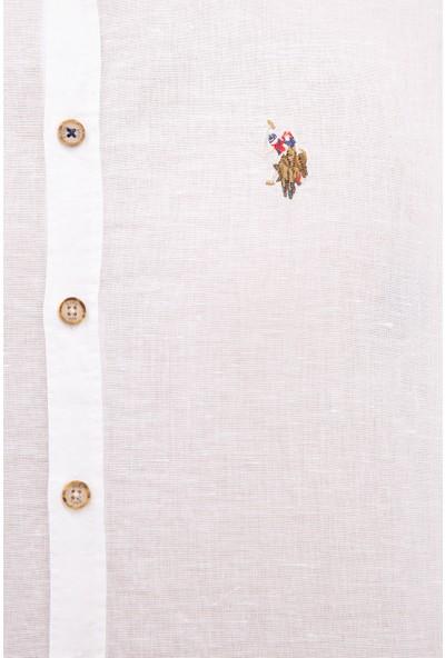U.S. Polo Assn. Beyaz Gömlek Uzunkol 50222387-VR013