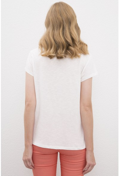 U.S. Polo Assn. Beyaz T-Shirt 50225585-VR013