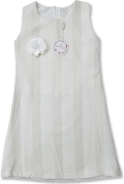 Perimasalı Jakarlı Kız Çocuk Elbise