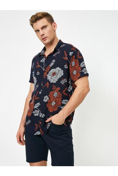 Koton Çiçekli Kısa Kollu Gömlek
