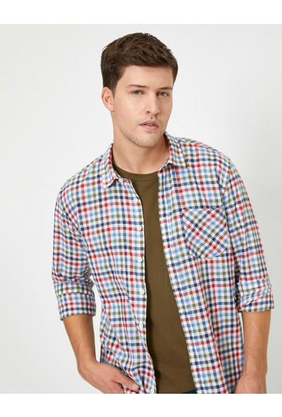 Koton Kareli Cep Detaylı Gömlek