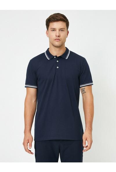 Koton Polo Yaka Kol ve Yaka Ucu Çizgili Slim Fit T-Shirt