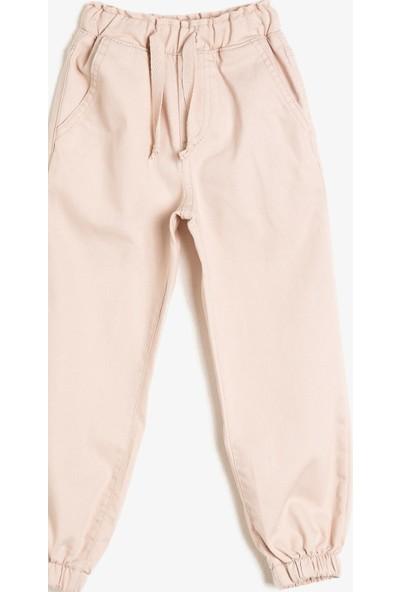 Koton Paçalari Beli Lastikli Cepli Pantolon