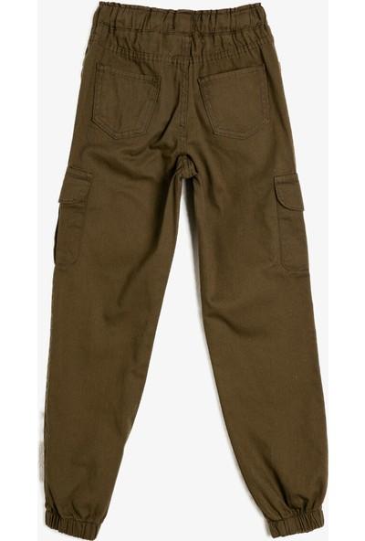 Koton Paçası Beli Lastikli Cepli Bol Pantolon