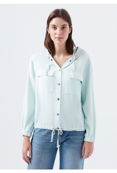 Mavi Kapüşonlu Mavi Gömlek 122638-32332