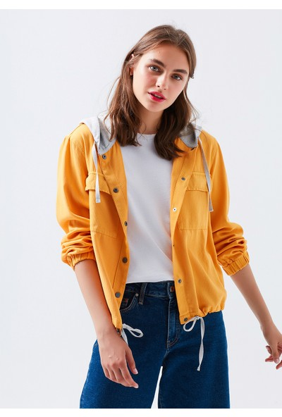 Mavi Kapüşonlu Sarı Gömlek 122638-32602
