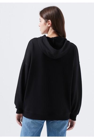 Mavi Kadın Batman Baskılı Siyah Sweatshirt 1600433-900
