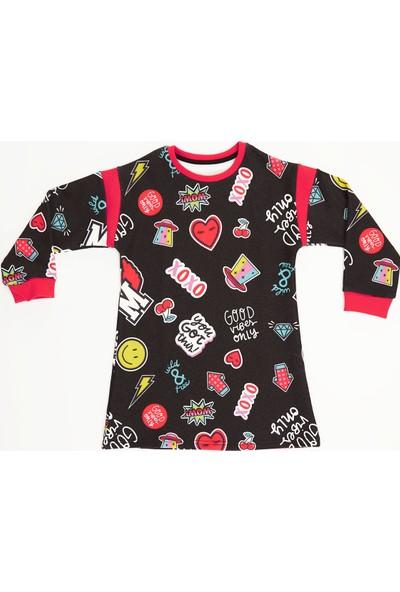Mushi Good Vibes Kız Çocuk Elbise