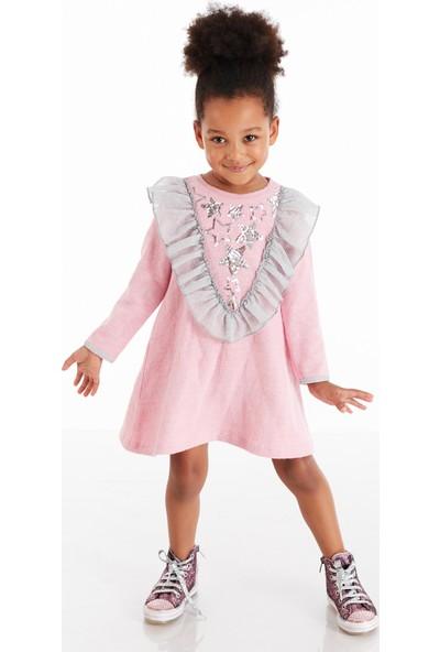Mushi Star Pullu Kız Çocuk Elbise
