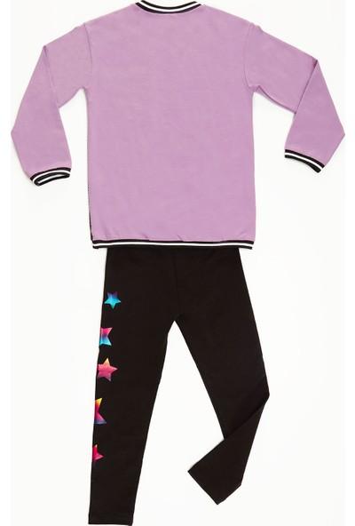 Mushi Wonderful Fileli Kız Çocuk Tunik Takım