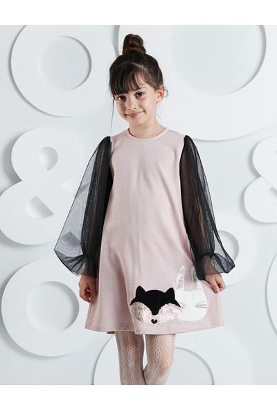 Mushi Kolları Tüllü Kankalar Kız Çocuk Elbise
