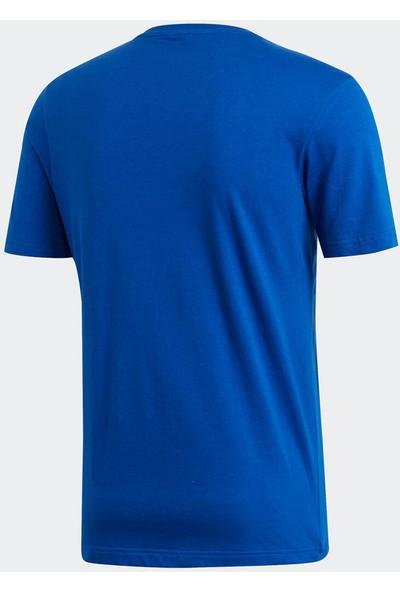 Adidas Mh Emblem Tee Mavi Erkek T-Shirt