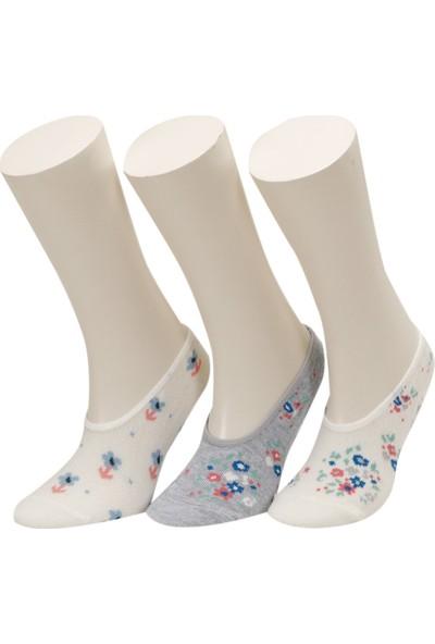 Floral 3 Lu Suba-G Mavi Kız Çocuk Çorap
