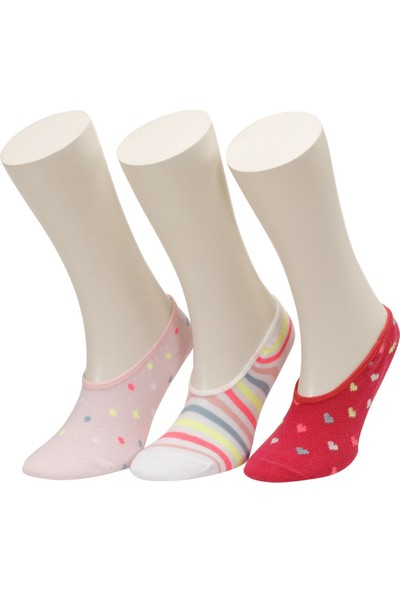 Flycorn 3 Lu Suba-G Pembe Multı Kız Çocuk Çorap
