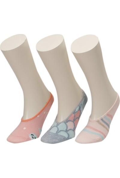 Mermaıd 3 Lu Suba-G Pembe Multı Kız Çocuk Çorap