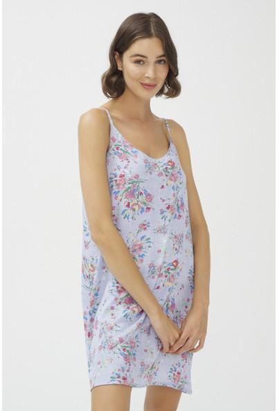 Penti Açık Mavi Oil Painted Elbise