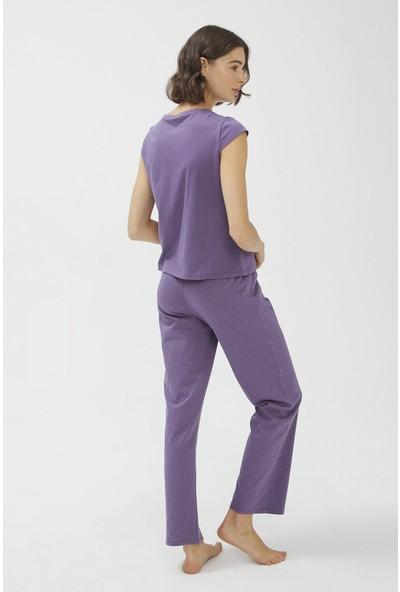 Penti Base Purple Pijama Takımı
