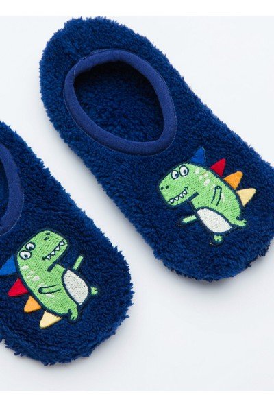 Penti Lacivert Erkek Çocuk Dino 3D Patik Çorabı