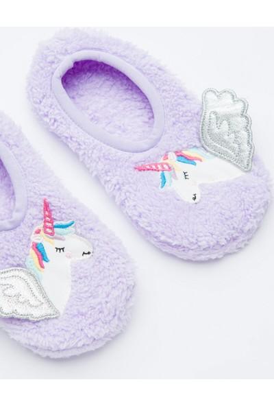 Penti Lila Kız Çocuk Unicorn 3D Patik Çorabı
