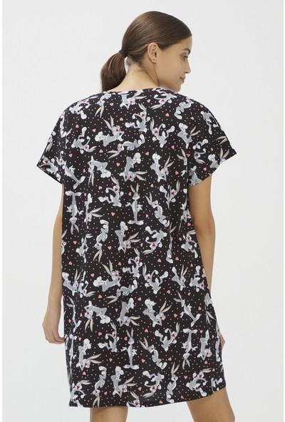 Penti Siyah Dark Bugs Elbise