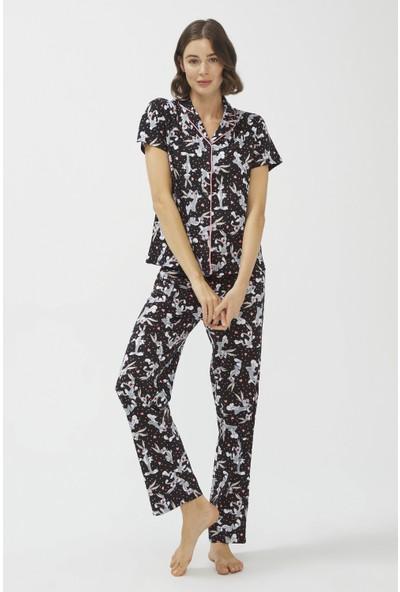 Penti Siyah Dark Bugs Pijama Takımı