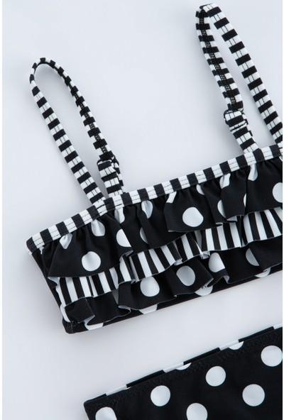 Penti Siyah Kız Çocuk Elegant Bandeau Set