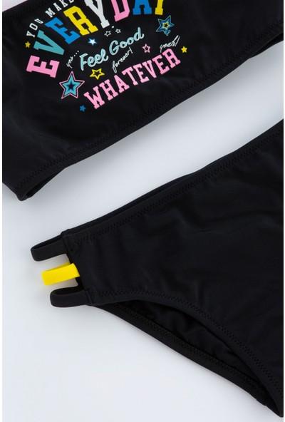 Penti Siyah Kız Çocuk Party Girl Halter Bikini Takımı