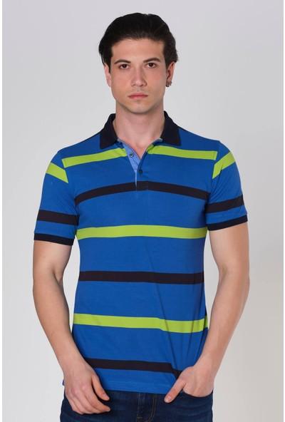 Duca Blanca Çizgili Pike Polo Yaka T-Shirt