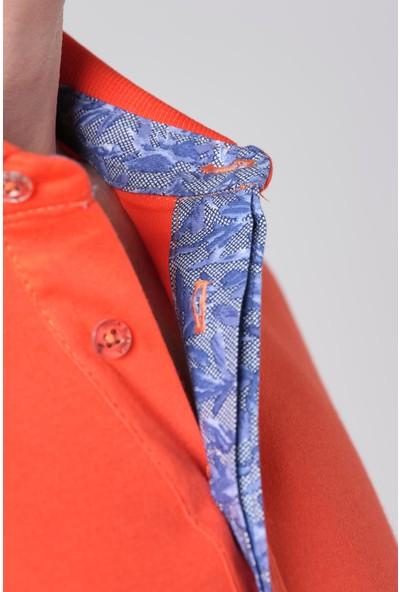 Duca Blanca Göğüs Nakışlı Interlok Klasik Polo Yaka T-Shirt