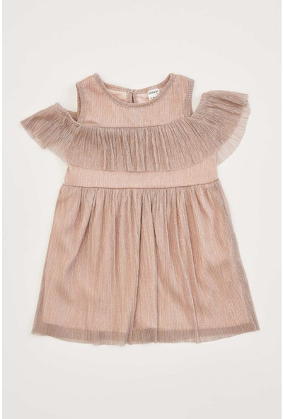 DeFacto Kız Bebek Fırfır Detaylı Kolsuz Elbise R0093A220AU