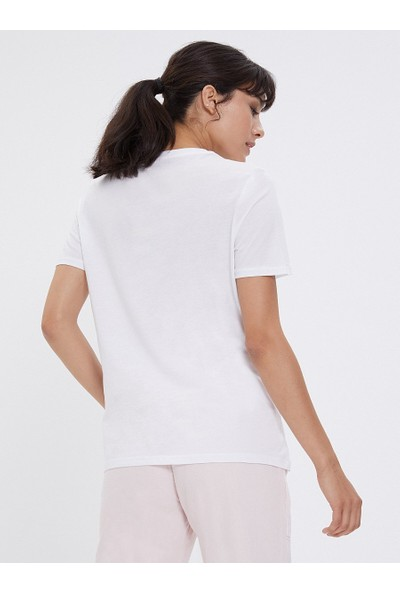 Loft Kadın Bisiklet Yaka T-Shirt 2026224
