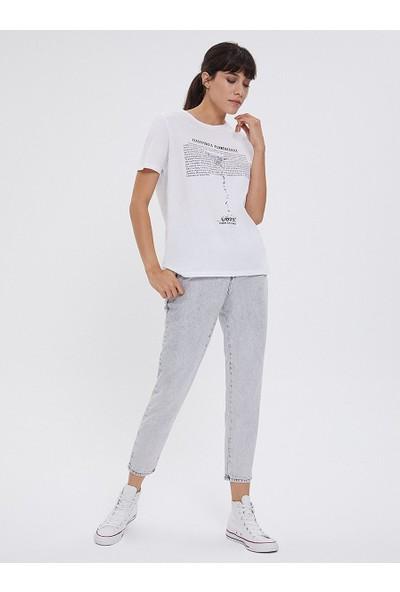 Loft Kadın Bisiklet Yaka T-Shirt 2026227