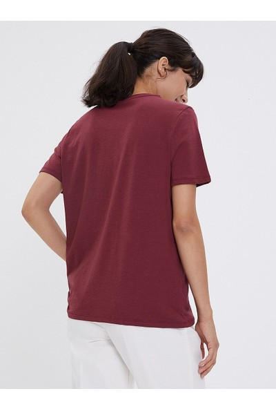 Loft Kadın Bisiklet Yaka T-Shirt 2026278
