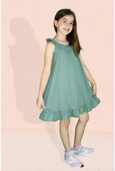Nemisia Kız Çocuk Haki Elbise