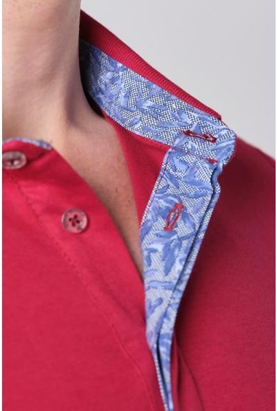Duca Blanca Göğüs Nakışlı İnterlok Klasik Polo Yaka T-Shirt
