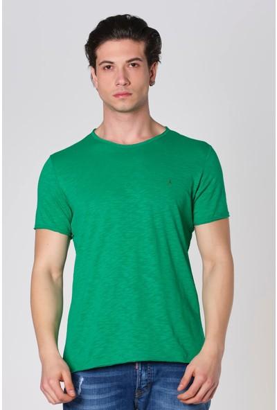 Duca Blanca Sıfır Yaka Pis Kesim Filamlı Pamuk T-Shirt
