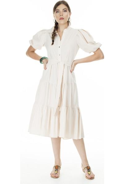 Ayhan Gömlek Yaka Elbise