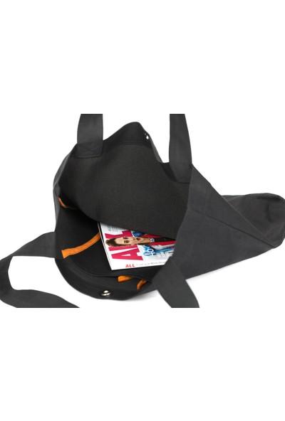 Baagistanbul Tasarım Siyah Kot Minnie Mouse Omuz Çantası