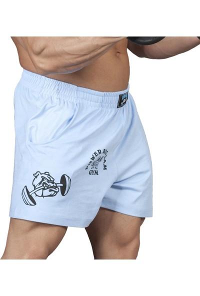 Big Sam Fitness Antrenman Şortu Kısa Kesim Mavi 1326
