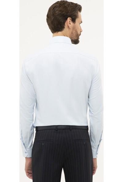 Pierre Cardin Erkek Slim Fit Armürlü Gömlek 50227479-Vr003